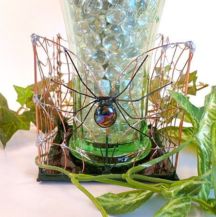 Spider Web Box and Spider Handmade Square Box by SpiderwoodHollow, $40.00