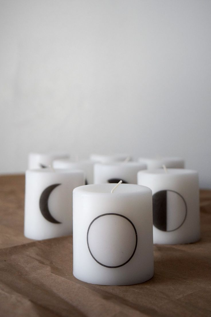 Moon Phase candles by wee little penguin