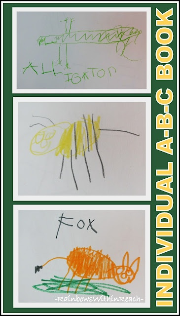 Kindergarten Child's Drawings for ABC Book