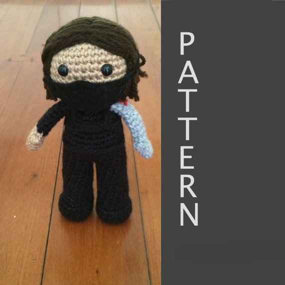 Free Knitting Pattern Toy Soldier : Winter Soldier Bucky Barnes Amigurumi Crochet Doll Pattern ...