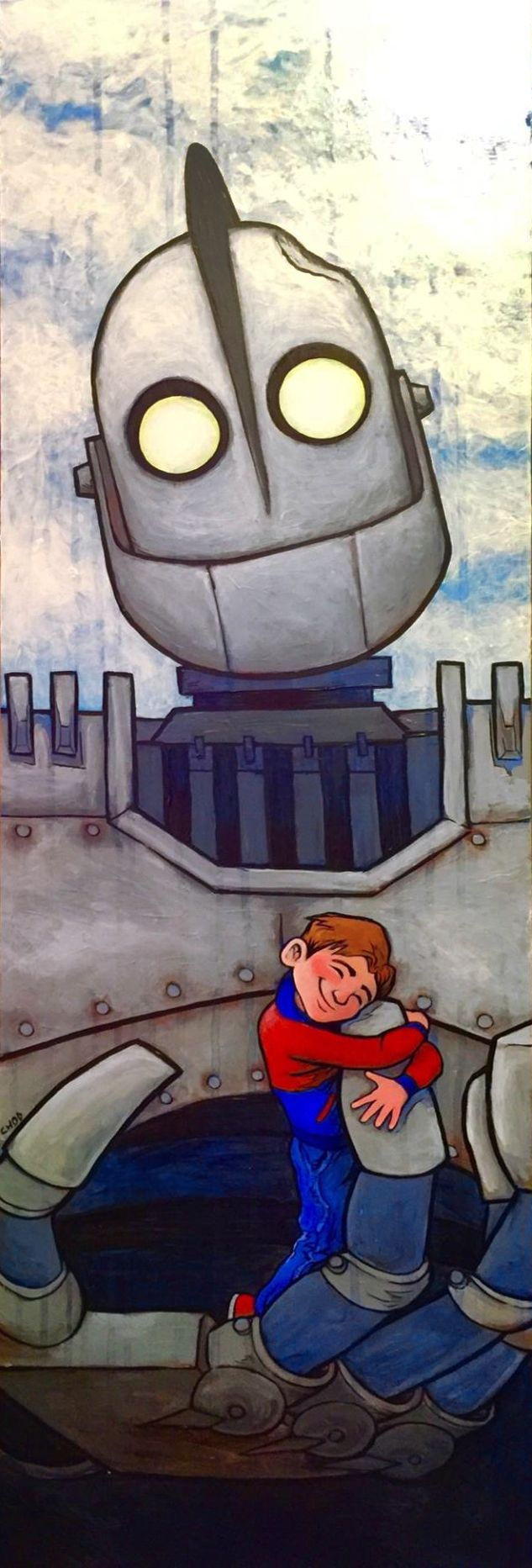 Iron Giant painting by Chad Kimes