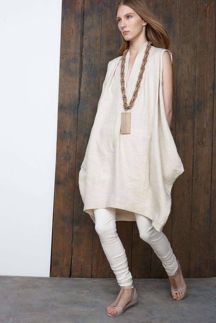 elevated sack dress shaping nubu | resort 2015