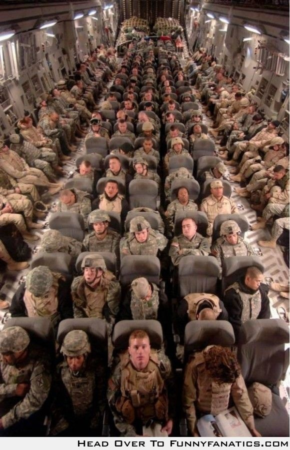 Soldiers coming home. So much respect for them.