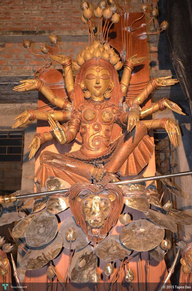 Durga in Sculpting by Tapos Das