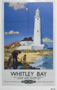 Whitley Bay Railway Lighthouse Poster