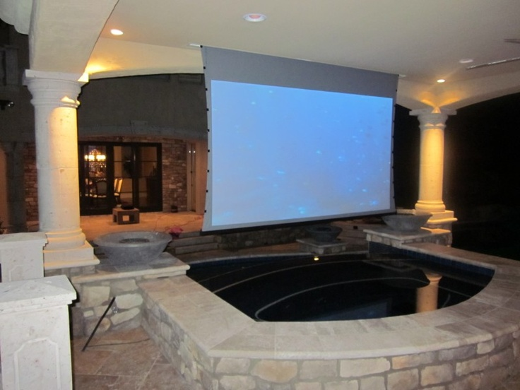 Ok, this would be going to far but you gotta drea, :) Outdoor Entertainment - Jacuzzi TV Screen
