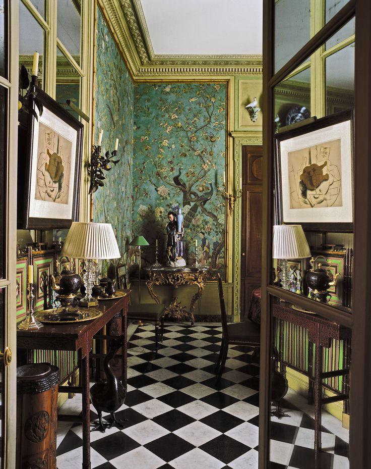 Pierre Bergè's Paris apartment designed by architect François-Joseph Graf.
