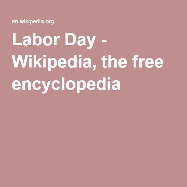 Labor Day - Wikipedia, the free encyclopedia