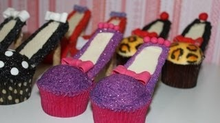 Stiletto Cupcakes! Decorate High Heel Shoe Cupcakes - A Cupcake Addiction How To Tutorial, via YouTube.
