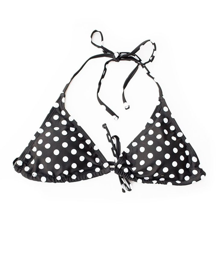 Polka Dot Triangle Bikini Top