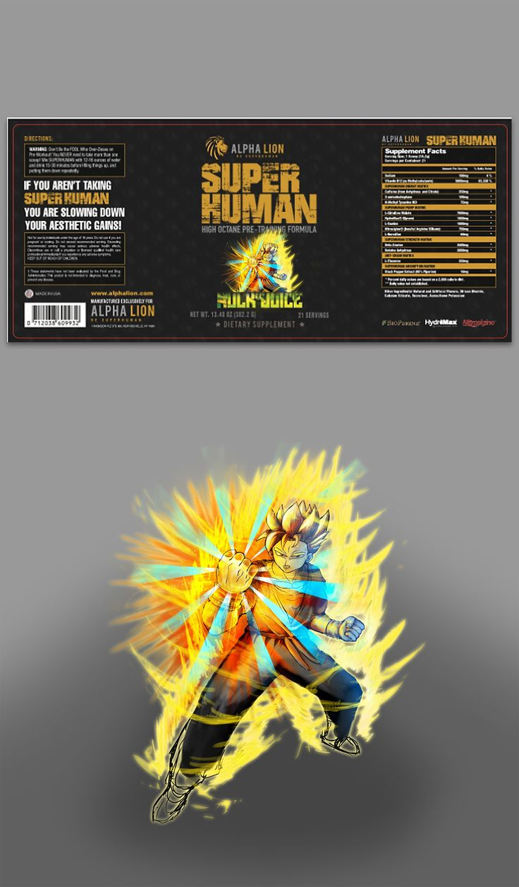 Goku Design Reference for Super Human Product | 99designs
