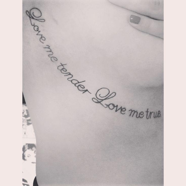 Elvis tattoo #Elvis #Tattoo #Blackandwhite #Quote                              …