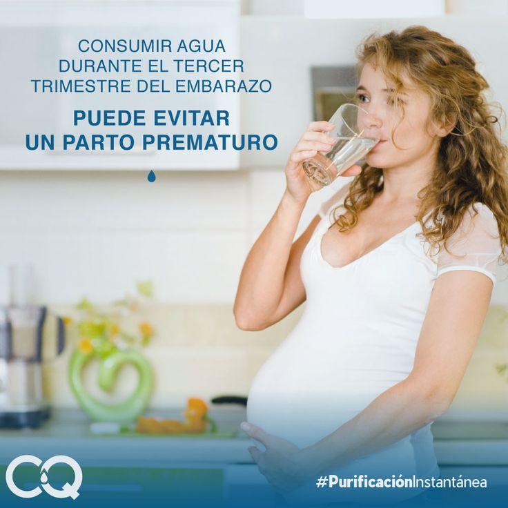 Consumir agua pura durante el tercer trimestre del embarazo, puede evitar un parto prematuro. #AcquafilterTips #PurificaciónInstantánea