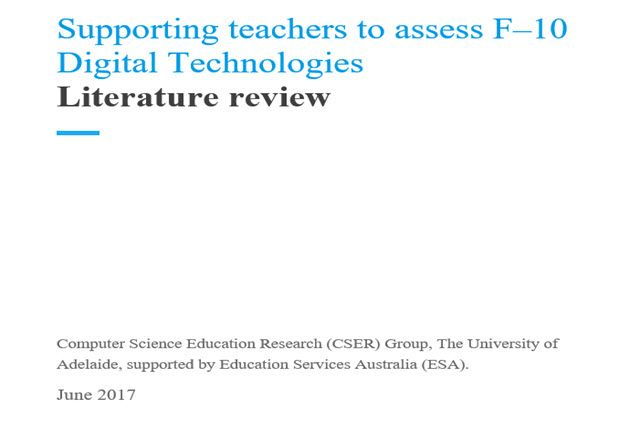 Literature review: Supporting teachers to assess F–10 Digital Technologies | Digital Technologies Hub