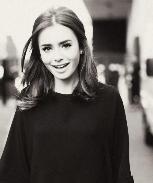 Lily Collins' perfect hair