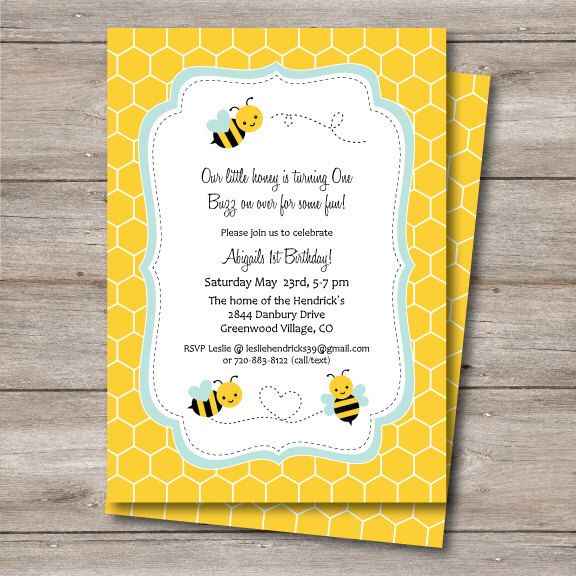 Bumble Bee Birthday or Shower Invitation, Printable Bee Invite with Editable Text, Editable Text Bumble Bee Party Invite, Bee Invitation,Bee by Punkyprep on Etsy https://www.etsy.com/listing/226489287/bumble-bee-birthday-or-shower-invitation