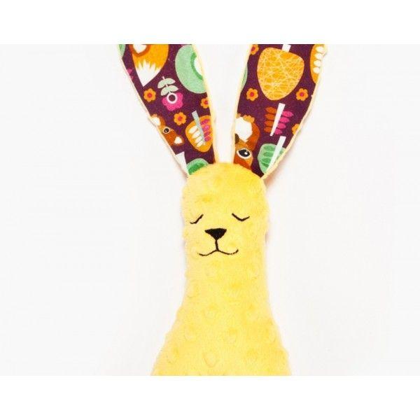 Mięciutki Królik w Liski Sunshine - Przytulanka od La Millou z uszkami i nóżkami idealnymi do chwytania i zabawy dla maluszków