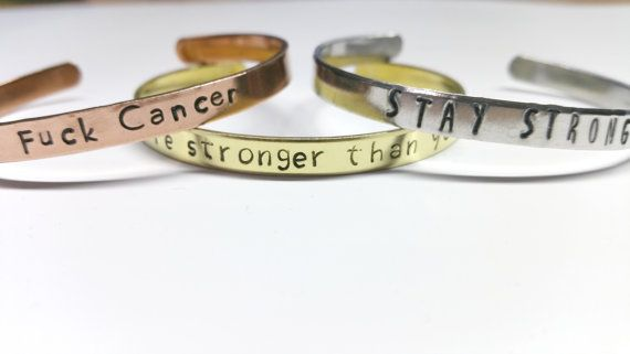 Bracelet - Stay Strong/F*ck Cancer/You are stronger than you know