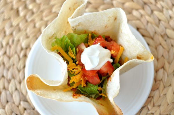 Mel's Kitchen Cafe   Homemade Taco Tortilla Bowls