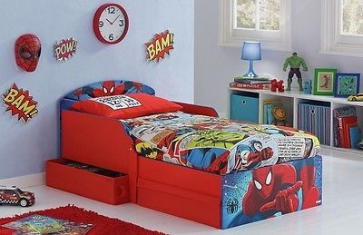 Sleeper #toddler bed #drawers spiderman kids bunk beds disney children #furniture,  View more on the LINK: 	http://www.zeppy.io/product/gb/2/302000310715/