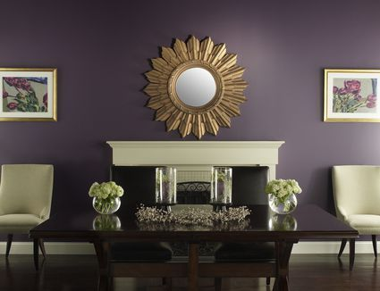 dramatic purple dining room designs in pastels | Dramatic Paint Inspiration: Sherwin-Williams Nouveau ...