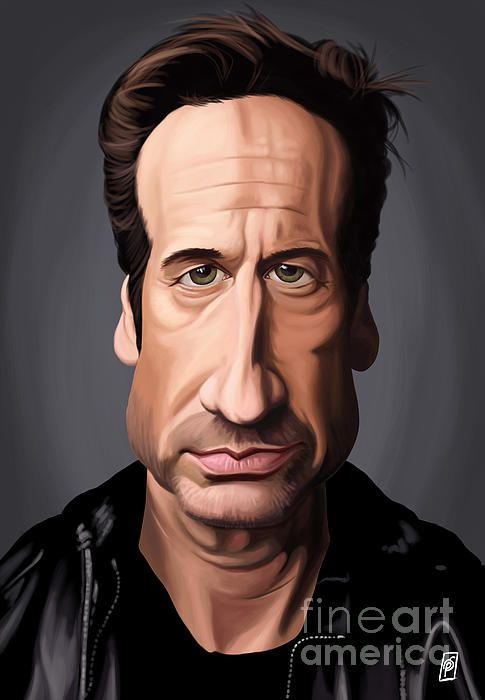 David Duchovny art | decor | wall art | inspiration | caricature | home decor | idea | humor | gifts