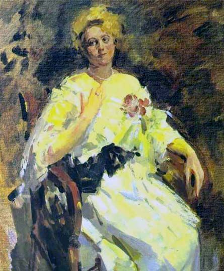 Retrato en estilo impresionista por el ruso Korovin.