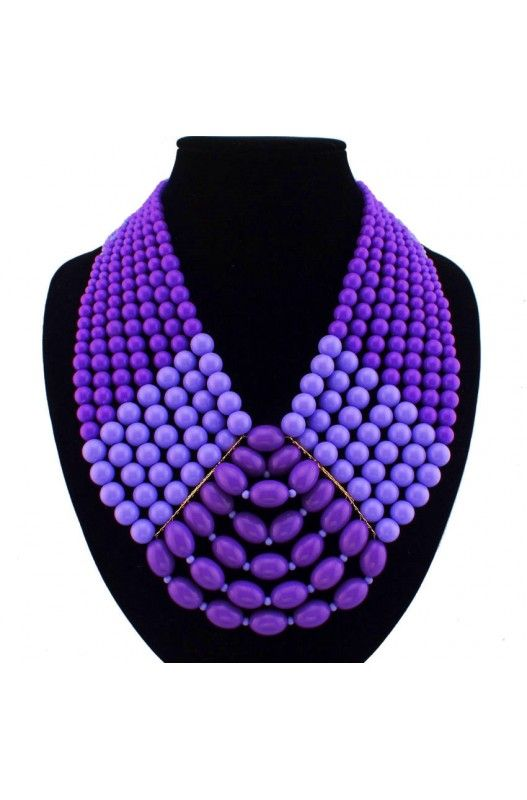 """""""In the Spotlight"""" Statement Necklace-     Statement Necklace!     Purple!     Choker!     Resin!     22 inches Long!     Available in Purple & Blue! Shop Now! #Mocahs"""