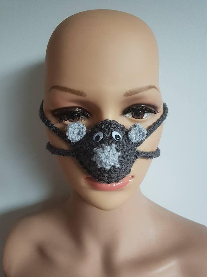Fun Christmas Gift Nose Warmer Nose Warmer READY TO SHIP Novelty Gift Crochet Nose Warmer Secret Santa Gift