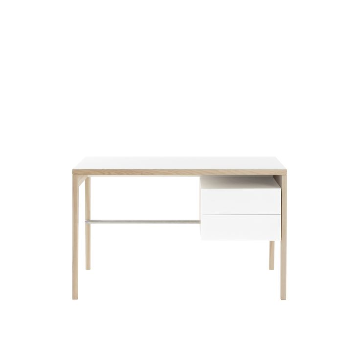 Writing desk with storage unit by MINT furniture.