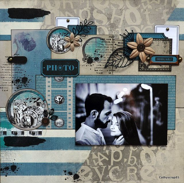 PHOTO - page scrappée par Cathy contiero - Collection cliché