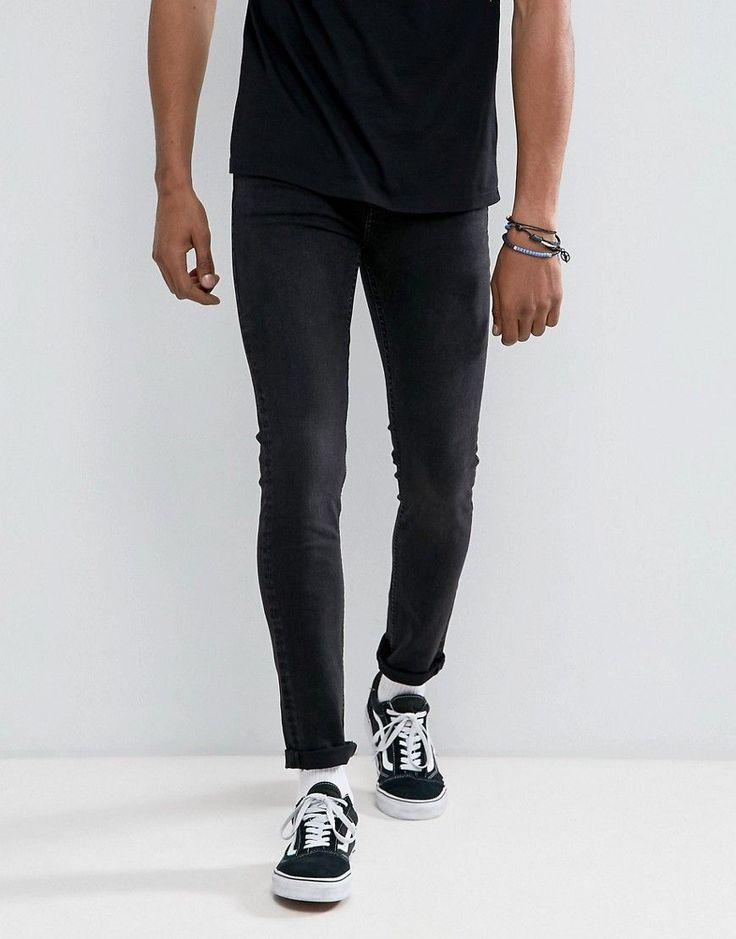 Cheap Monday Tight Skinny Jeans In Black Haze - Black