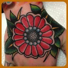 Resultado de imagen para old school tattoos flowers