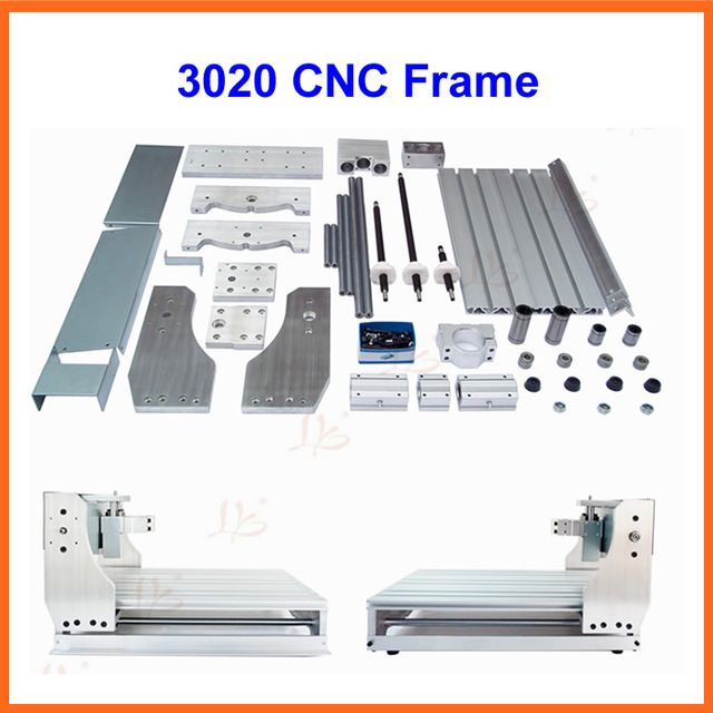 Envío gratis 3020 enrutador CNC, marco DEL CNC de DIY con el tornillo trapezoidal