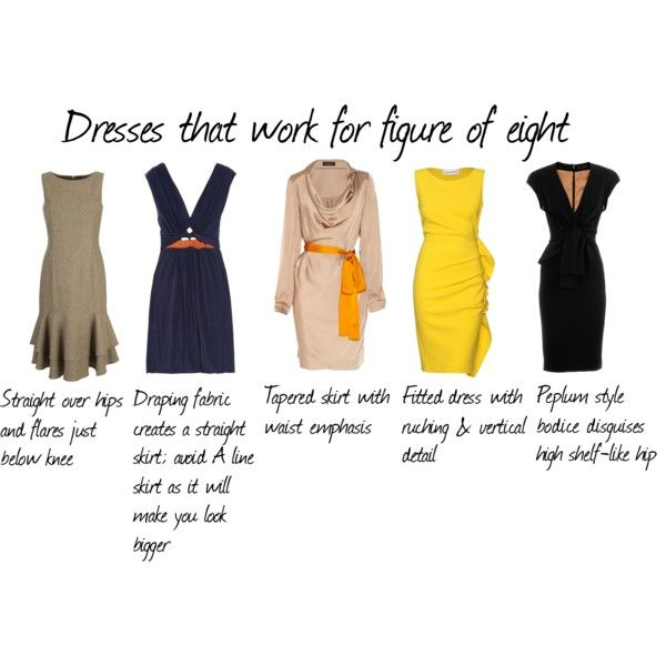 """""""Dresses That work for figure of 8"""" by aileenlane on Polyvore"""