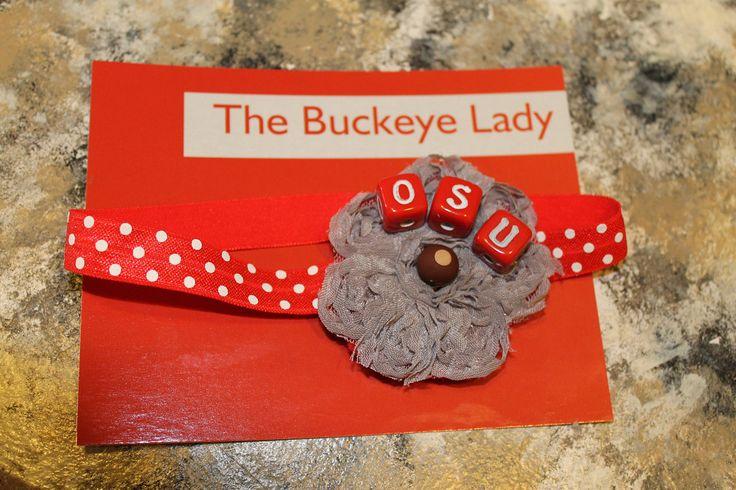 Ohio State Baby Headband, OSU Headband, Buckeye Headband, Brutus Headband, Ohio State Photo Prop by thebuckeyelady on Etsy