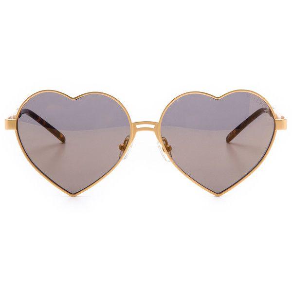 Wildfox Lolita Deluxe Sunglasses - Gold/Gold Mirror found on Polyvore
