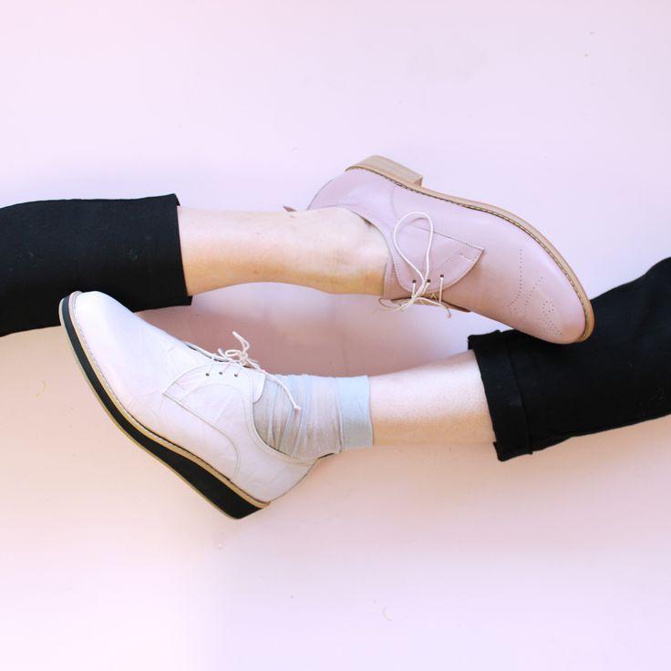 Blushing Beauties   Classic Flat Darby & Darby Mini Platform   Kuwaii AW 15 Footwear