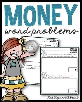 4 Pages of Basic (Beginner) Money Word ProblemsEach sheet has an area for students to work out the problem and an area to write the answer. I hope you are able to find these helpful in your classroom!Thank you!