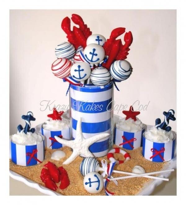 Nautical Themes Cake Pops