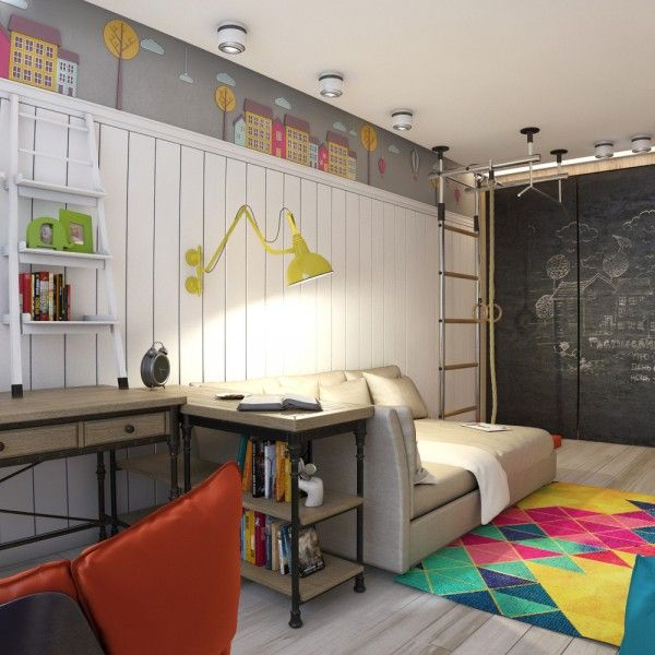 947 best kid and teen room designs images on pinterest for Funky bedroom designs