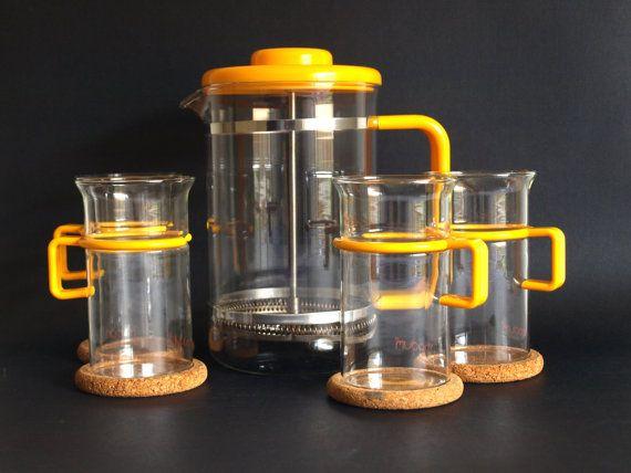 Bodum Bistro French Press Coffee Set in Canary by FunkyKoala