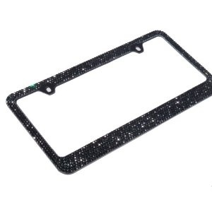 Birthday idea - black rhinestone license plate frame