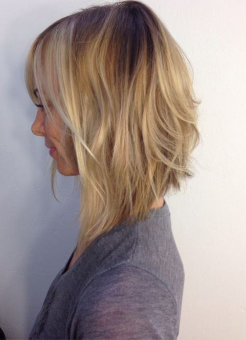 Asymmetrical Long Bob Hairstyles 2018 Blonde Highlights