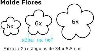Resultado de imagem para molde flor 4 petalas de papel pequeno