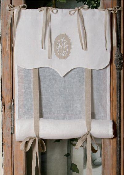Store Sur-mesure Lin Blanc et Monogramme