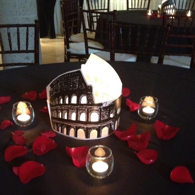 Roman Themed Centerpiece Party Ideas In 2019 Wedding