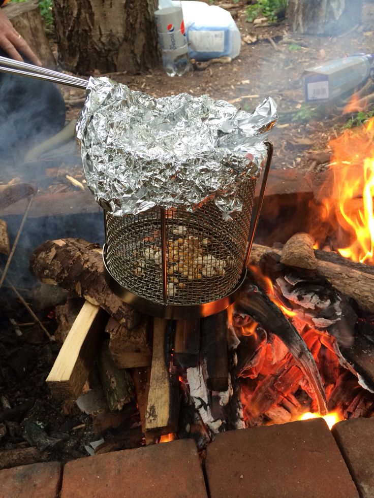Campfire popcorn with bushcrafters.club