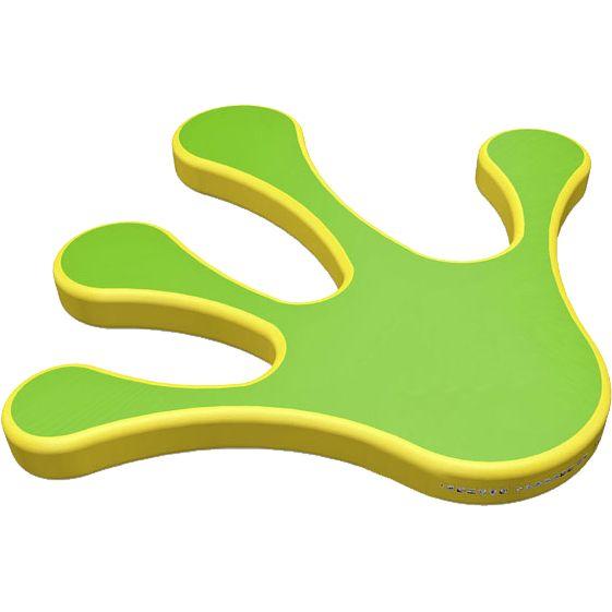 Название: Элемент аквапарка «Аква-рука» Категория: Надувные аттракционы Источник: http://batutmaster.ru/product/ehlement-akvaparka-akva-ruka Описание:   Огромная рука желто-зеленого цвета – отличное место для прыжков и для бега особенно, если это элемент аквапарка и устанавливается