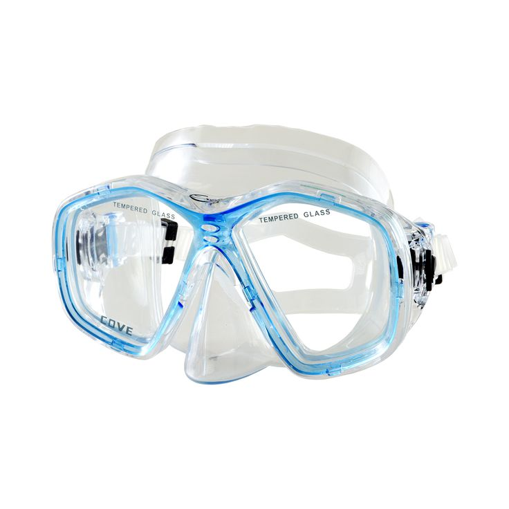 • Two lens design. • Tempered glass lenses. • Silicone strap. • PVC skirt. • Quick release buckles.